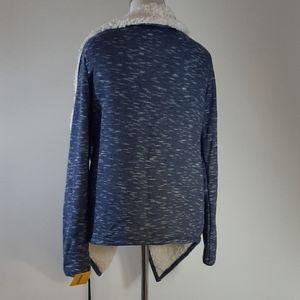 GreenTea Jackets & Coats - Green tea Heather Denim colored Sherpa Wrap M NWT